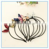 Hair accessories manufacturers china sparkly bunny ear glitter hair accessories for girls