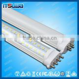 Hot products led tube 2g11 2g11 led tube light 9w pc frosted cover dimmable or non-dimmable for Display room