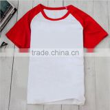whosale custom round collar 100% cotton blank singlet Nightwear,sublimation t-shirt