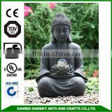 Hot sale fiberglass outdoor buddha statues fountain