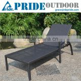 Folded In Half Comfortable Leisure Rattan Chaise Classic Chaise Outdoor Swing Lounge