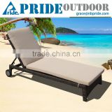 Beach Wicker Lounge Chair Foldable With Wheels Rattan Sofa Lounge Chair Lounge