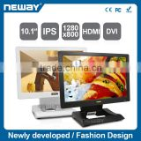 "10.1"" 5-wires resistive touch IPS LCD studio monitor with abundant signal interface"