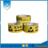 Yellow ESD Protected Area PVC Warning Tape
