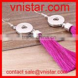 Vnistar interchangeable snap button earring tassel jewelry wholesale NE011-5