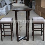 modern wood bar table and bar stool set XYN1213