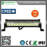 "12"" vehicle 12V LED light bar truck off road driving light bar ,led work light, high quality 72w led light bars DRLB72"
