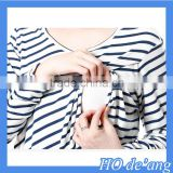 Hogift New Design Short Sleeve Maternity Breastfeeding Clothes Nursing Tops