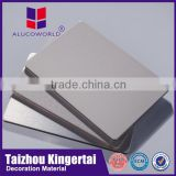 Alucoworld FACTORY OUTLET flexible decoration target home sheets 4mm pvdf acm/aluminum composite panel