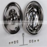 16''Polished Stainless Steel Truck Wheel Cover Bus chrome Wheel Trim