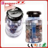 digital money bank WATER BOTTLE DIGITAL COIN COUNTER LCD DISPLAY money box                                                                         Quality Choice