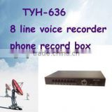 Best Quality--8 channel 8 line phone recording/ call recorder pstn with software call recording
