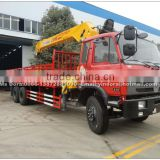 Dongfeng 6x4 10 ton truck with lifting cranes