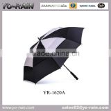 China Supply High quality strong windproof umbrella,OEM design double layers golf umbrella