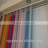 2016 new year wholesale sunscreen black out vertical blinds fabric fire redardant blinds