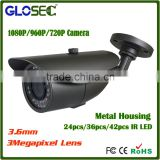 Best selling cctv camera metal housing weatherproof 24Pcs ir leds bullet full hd 1080P ahd camera security system manufacturer                                                                         Quality Choice