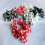 Women fascinators polka dot ponytail holders Scrunchy hair accessories for women