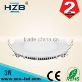 led smd2835 suspended ceiling light 3w mini round panel light have large quatity in stock
