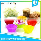 FDA silicone colorful high quality cupcake liners wholesale
