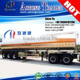 Alloy food milk transporting 6mm thickness 40000liters 3 axles aluminum tank trailer for sale                                                                         Quality Choice