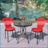 Indoor wrought cast iron table legs and chairs JJ-052C,610T