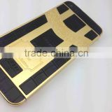 Unique leather design for iPhone 5s gold housing for iPhone 5s gold plated 24kt back cover