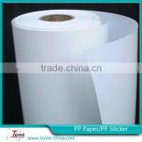 X banner raw material pp paper China supplier