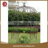 Custom decoration outdoor stents iron garden pavilion gazebo