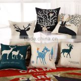 Cotton Linen Decorative Throw Pillow Cover Cushion, christmas pillow,sofa decoration,christmas gift