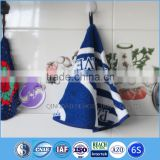 china wholesale hanging terry round container home fabric 100% cotton microfiber hand towels with loop