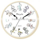 Plastic Bicycle Design Wall clock