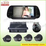 Super 7 inch mirror display LCD bluetooth parking sensor kits for vehicle detection system