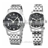 Pair Watches Full Stainless Steel Analog Quartz Couple Watch Fashion Lovers Watch Valentine's Day gift