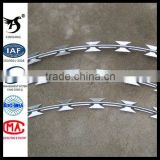 2014 Hot-dipped Galvanized Razor Barbed Wire Mesh Fence,Sharp Razor Barbed Wire,Razor Barbed Wire