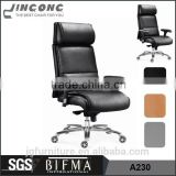 Comfortable executive black high back leather swivel office chair,best ergonomic office chair