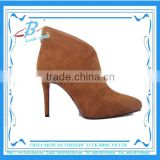 Ladies suede leather fashion boots brown leather boots for women