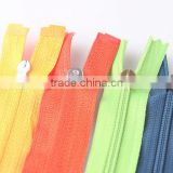 5# nylon zipper&nylon coil zipper/excellent & High quality long chain 5 # nylon zipper with silver teeth