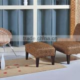 Relax chair with stool with water hyacinth material - wholesale manufacture