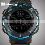 INFANTRY New Hot Sale Chronograph Silicone Men's Alarm Watch