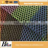 100% polyester material and knitted technic polyester mesh fabric / flower printed bird eye mesh fabric