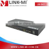 LINK-MI New Products 4x1 Quad Screen Multiviewer HDMI Switch with Audio RCA Coax Output