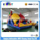 2016 Sunjoy new design hot sale multicolor gaint inflatable twin-tub Bouncer castle for sale outdoor