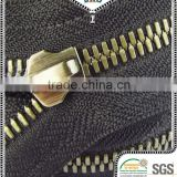 factory supplier high quality 8# corn teeth two way metal zipper for garment accessories