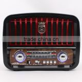Solar panel charger USB TF card MP3 player, portable FM AM SW 3 band Radio, radio with flashlight