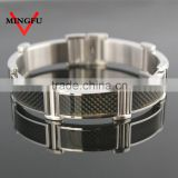 carbon fiber resin stainless steel bracelet jewelry