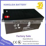 soalr batteries 12v 260 ah deep cycle agm battery made in China Kanglida brand CE UL certification