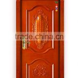Wholesale modern single solid wood interior hand carved teak wood doors relief door