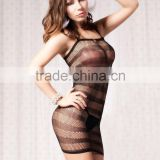 Short style cheap lingeries for mature women hot sale sexy fishnet mini dress