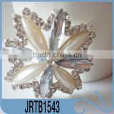 China Made Well-selling Fancy Flat back Square Diamante Rhinestone Pearl Button for Custom Decoration