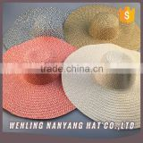 Best Selling Custom Logo Brand Fashionable Floppy Trilby Woman Beach Paper Sombrero Straw Hattraw Hat